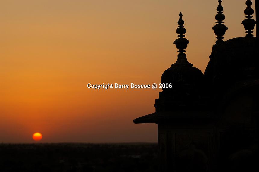 Sunset over Mahansar, India.
