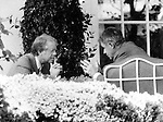 Secretary of State Cyrus R. Vance and President Jimmy Carter confer about American hostages in Iran outside the oval office,Secretary of State Cyrus R. Vance and President Jimmy Carter confer outside the oval office,