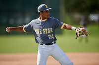 Brandon Howlett  (24) while playing for 5 Star National based out of Warner Robins, Georgia during the WWBA World Championship at the Roger Dean Complex on October 19, 2017 in Jupiter, Florida.  Brandon Howlett is a third baseman / shortstop from Lakeland, Florida who attends George W. Jenkins High School.  (Mike Janes/Four Seam Images)