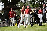 STANFORD, CA - APRIL 24: Malia Nam, Amelia Garvey at Stanford Golf Course on April 24, 2021 in Stanford, California.