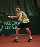 The Hague, The Netherlands, March 17, 2017,  De Rhijenhof, NOJK 14/18 years, Quinten Kleiboer (NED)<br /> Photo: Tennisimages/Henk Koster