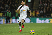 Jordan Ayew of Swansea City in action during the Premier League match between Watford and Swansea City at the Vicarage Road, Watford, England, UK. Saturday 30 December 2017