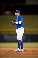 AZL Cubs 1 first baseman Luis Hidalgo (17) during an Arizona League game against the AZL Diamondbacks at Sloan Park on June 18, 2018 in Mesa, Arizona. AZL Diamondbacks defeated AZL Cubs 1 7-0. (Zachary Lucy/Four Seam Images)