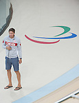 Sebastien Travers, Rio 2016 - Para Cycling // Paracyclisme.<br /> Para Cycling participates in a track cycling training session // Para Cycling participe à une session d'entraînement de cyclisme sur piste. 06/09/2016.