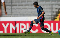 GUADALAJARA, MEXICO - MARCH 18: Mauricio Pineda #5 of the United States passes off the ball during a game between Costa Rica and USMNT U-23 at Estadio Jalisco on March 18, 2021 in Guadalajara, Mexico.