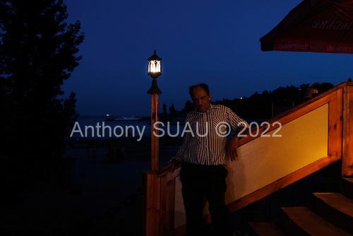 """Odessa, Ukraine<br /> August 27, 2005 <br /> <br /> Odessa's """"Arcadia"""" beach at night life."""