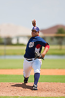 7/17/09: Julio Perez of the Gulf Coast League Nationals during the game in Viera, Florida. The GCL Nationals are the Rookie League affiliate of the Washington Nationals. Photo By Scott Jontes/Four Seam Images