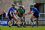 Maurice O'Connor, Kilmoyley, in action against Eric Leen, Saint Brendan's, during the County Senior hurling Final between Kilmoyley and Saint Brendan's at Austin Stack park on Sunday.