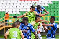 TUNJA - COLOMBIA, 18-04-2021: Boyacá Chicó y Jaguares de Córdoba en partido por la fecha 19 de la Liga BetPlay DIMAYOR I 2021 jugado en el estadio La Independencia de la ciudad de Tunja. / Boyaca Chico and Jaguares de Cordoba in match for the date 19 of the BetPlay DIMAYOR League I 2021 played at La Independencia stadium in Tunja city. Photo: VizzorImage / Edward Leguizamon / Cont