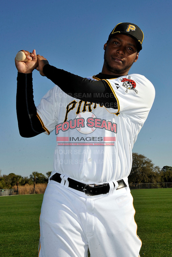 Feb 28, 2010; Bradenton, FL, USA; Pittsburgh Pirates  outfielder Brandon Jones (16) during  photoday at Pirate City. Mandatory Credit: Tomasso De Rosa/ Four Seam Images