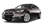 Stock pictures of low aggressive front three quarter view of a 2015 BMW 5 Series 535I Luxury 5 Door Hatchback 2WD Low Aggressive