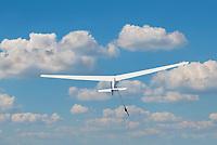 Segelflugzeug im Windenstart