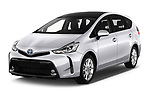 2018 Toyota Grand-Prius+ business-plus 5 Door Mini Mpv Angular Front stock photos of front three quarter view