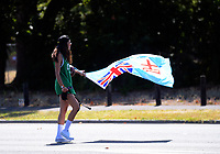 A fan arrives for day one of the 2020 HSBC World Sevens Series Hamilton at FMG Stadium in Hamilton, New Zealand on Saturday, 25 January 2020. Photo: Dave Lintott / lintottphoto.co.nz