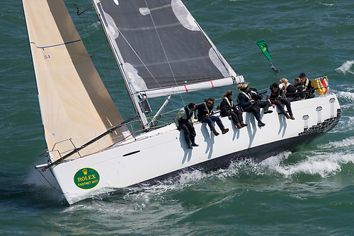 Five previous Rolex Fastnet Races for Susan Glenny - a keen campaigner for women's sailing in the UK. Competing again - this time with a mixed crew - on her First 40 Olympia's Tigress Photo: Carlo Borlenghi/ROLEX