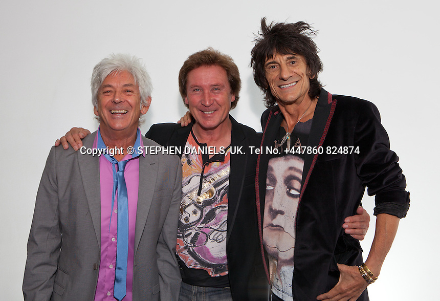 PHOTO BY © STEPHEN DANIELS    <br /> The Faces at O2 Dome Arena, London. Kenney Jones, Ronnie Wood, Ian McLagan