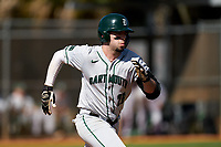 Dartmouth Big Green Ubaldo Lopez (26) runs to first base during a game against the Omaha Mavericks on February 23, 2020 at North Charlotte Regional Park in Port Charlotte, Florida.  Dartmouth defeated Omaha 8-1.  (Mike Janes/Four Seam Images)