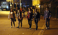 Pictured: Players walk around Cardiff. Saturday 29 March 2014<br />