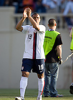 Charlie Davies applauds the crowd. The USA defeated China, 4-1, in an international friendly at Spartan Stadium, San Jose, CA on June 2, 2007.