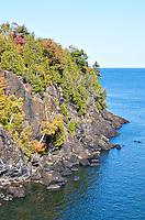 An autumn scene from the Presque Isle park in Marquette, MI - Upper Peninsula.