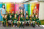 Gael Scoil, Lios Tuathail : The boys and girls in M/ Seana Ni Chuain's class , centre back in Gael Scoil, Lios Tuathail on their first day at school with Amy Ni Dheorain &  Sinead Ui Dheorain.
