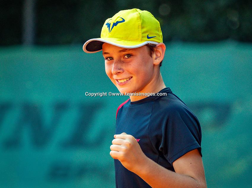 Hilversum, Netherlands, Juli 29, 2019, Tulip Tennis center, National Junior Tennis Championships 12 and 14 years, NJK, Mees Röttgering (NED)<br /> Photo: Tennisimages/Henk Koster