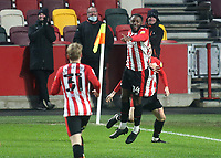 Josh DaSilva celebrates scoring Brentford's seventh goal during Brentford vs Wycombe Wanderers, Sky Bet EFL Championship Football at the Brentford Community Stadium on 30th January 2021
