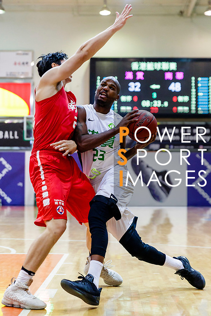 Austin Bryant M #23 of Tycoon Basketball Team goes to the basket during the Hong Kong Basketball League game between Tycoon and SCAA at Southorn Stadium on May 23, 2018 in Hong Kong. Photo by Yu Chun Christopher Wong / Power Sport Images