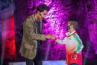 ZIPAQUIRA - COLOMBIA, 19-06-2021: Egan Bernal, ciclista colombiano, durante el homenaje en las salinas de su ciudad Zipaquirá por el triunfo en el Giro de Italia 2021. / Egan Bernal, Colombian cyclist, during a tribute at salinas de Zipaquira in his town Zipaquira for his victory in the Giro d'Italia 2021. Photo: VizzorImage / Diego Cuevas / Cont
