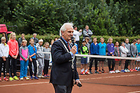 Hilversum, Netherlands, August 8, 2016, National Junior Championships, NJK, Official Opening, Major of Hilversum, Pieter Broertjes<br /> Photo: Tennisimages/Henk Koster