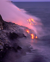 Lava flow to the sea from Kilauea Volcano, Big Island of Hawaii