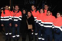 Anne Hidalgo Maire de Paris et la protection civil ,CÈlÈbration du 31 DÈcembre Arc de Triomphe de Paris 31/12/2016 # GRAND SPECTACLE A L'ARC DE TRIOMPHE POUR LA NOUVELLE ANNEE