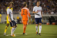 Orlando, FL - Saturday July 22, 2017: Kevin Trapp, Harry Kane during the International Champions Cup (ICC) match between the Tottenham Hotspurs and Paris Saint-Germain F.C. (PSG) at Camping World Stadium.
