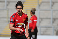 Jessica Sigworth (Manchester United Women) the English Womens Championship match between Manchester United Women and Leicester City Women at Leigh Sports Village, Leigh, England on 10 March 2019. Photo by James Gill / PRiME Media Images.