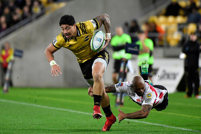 Hurricanes' Ben Lam in action during the Super Rugby - Hurricanes v Lions at Westpac Stadium, Wellington, New Zealand on Saturday 5 May 2018.<br /> Photo by Masanori Udagawa. <br /> www.photowellington.photoshelter.com