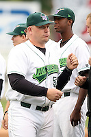 September 9 2008:  Manager Darin Everson of the Jamestown Jammers, Class-A affiliate of the Florida Marlins, during a game at Russell Diethrick Park in Jamestown, NY.  Photo by:  Mike Janes/Four Seam Images