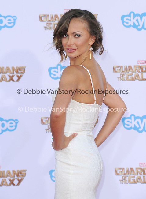 Karina Smirnoff<br /> <br /> <br />  attends The Marvel Studios World Premiere GUARDIANS OF THE GALAXY held at The Dolby Theatre in Hollywood, California on July 21,2014                                                                               © 2014Hollywood Press Agency
