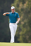 Justin Rose of England gestures during Hong Kong Open golf tournament at the Fanling golf course on 24 October 2015 in Hong Kong, China. Photo by Xaume Olleros / Power Sport Images