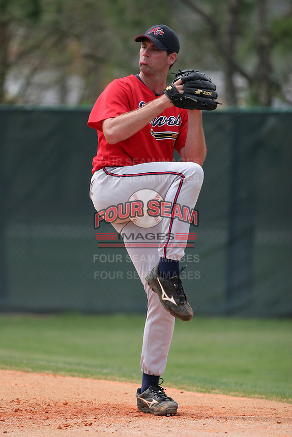 Atlanta Braves minor leaguer Matt Coenen during Spring Training at Disney's Wide World of Sports on March 14, 2007 in Orlando, Florida.  (Mike Janes/Four Seam Images)