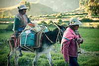 The villagers of the Colca Valley work long days herding animals and farming the lands.  As there are little to no cars, women carry their belongings on their backs or by mule if they are fortunate to have one.  Visitors to the villages of the Colca Canyon are reminded of how life used to be in a simpler time.