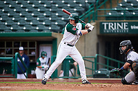 Fort Wayne TinCaps Nick Gatewood (16) at bat during a Midwest League game against the Kane County Cougars at Parkview Field on May 1, 2019 in Fort Wayne, Indiana. Fort Wayne defeated Kane County 10-4. (Zachary Lucy/Four Seam Images)