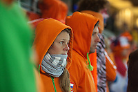 Netherlands fans reacts to Holland losing the 2010 FIFA World Cup Final between Spain and Holland at Soccer City in Soweto, South Africa on Sunday, July 11, 2010.  Spain defeated Netherlands 1-0.
