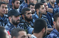 "Palestinian security forces of the Hamas attend a rally in Gaza City Sunday, Aug. 5, 2007. 950 of over 5,000 Palestinians stranded for weeks in Egypt after the Hamas takeover of Gaza returned home on Sunday.""photo by Fady Adwan"""