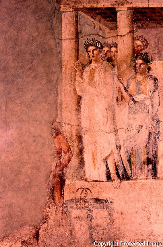 Roman Art:  Fresco--Ifigenia in Tauride.  National Museum, Naples.