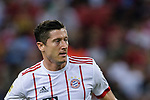 Bayern Munich Forward Robert Lewandowski in action during the International Champions Cup match between FC Bayern and FC Internazionale at National Stadium on July 27, 2017 in Singapore. Photo by Weixiang Lim / Power Sport Images