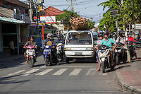 Bali, Indonesia.  Traffic at an Intersection.