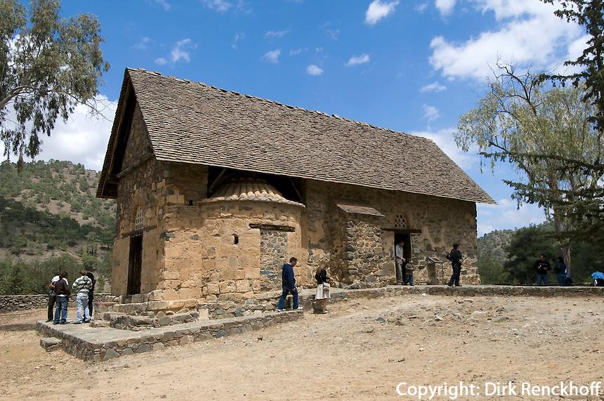 Zypern (Süd), Panagia Forviotissa in Asinou Troodos-Gebirge, 12.Jh., Unesco-Weltkulturerbe