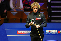 17th April 2021; Crucible Theatre, Sheffield, England; Betfred Snooker World Championships; Australia's Neil Robertson competes during the first round match between China's Liang Wenbo and Australia's Neil Robertson