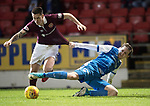 St Johnstone v Hearts…23.12.17…  McDiarmid Park…  SPFL<br />Jamie Walker is fouled by Blair Alston<br />Picture by Graeme Hart. <br />Copyright Perthshire Picture Agency<br />Tel: 01738 623350  Mobile: 07990 594431