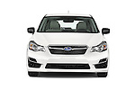 Car photography straight front view of a 2015 Subaru Impreza 2.0I Auto 4 Door Hatchback Front View